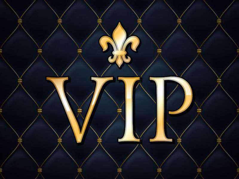 40669296 - vip abstract quilted background, golden letters with royal lily.