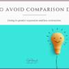How to avoid comparison despair - Cyn Hannah